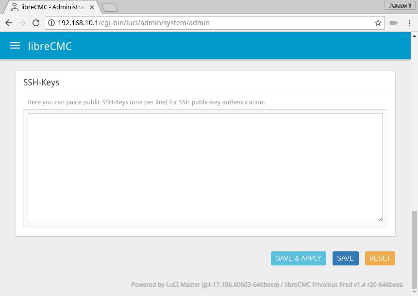 GnuBee: — Install firmware via webserver